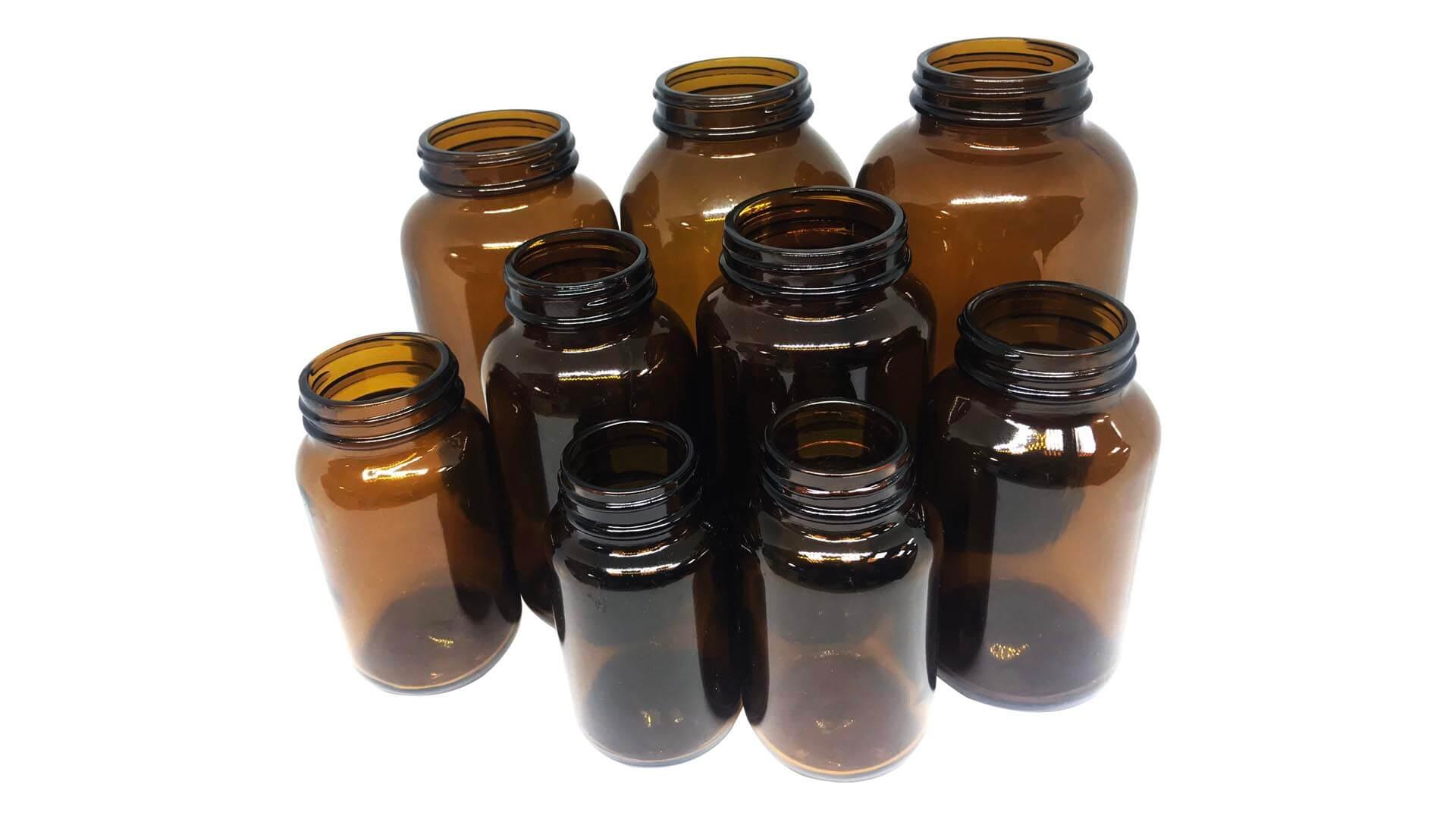 玻璃瓶(茶)Glass (Amber)